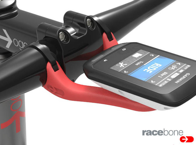 RaceBone: Garmin Handlebar Mount in Red Processed Versatile Plastic