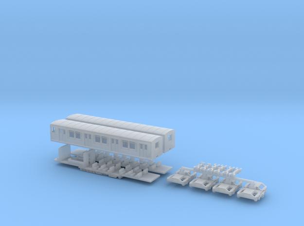 BR 875/275 Berliner S-Bahn, Viertelzug (Z, 1:220) in Smooth Fine Detail Plastic