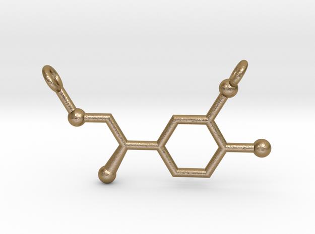 Adrenaline (Epinephrine) Pendant Alternative in Polished Gold Steel
