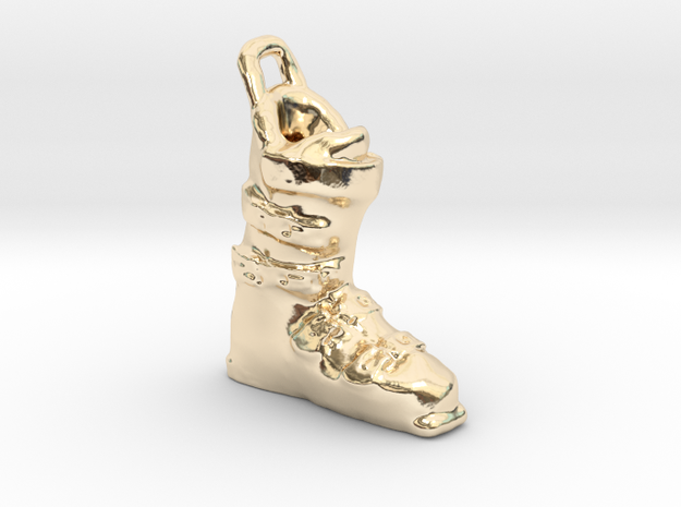 Ski Boot Charm in 14K Yellow Gold