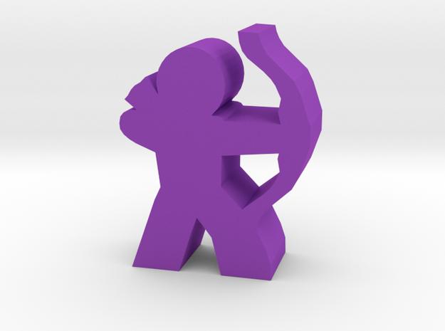 Archer Hero Meeple in Purple Processed Versatile Plastic