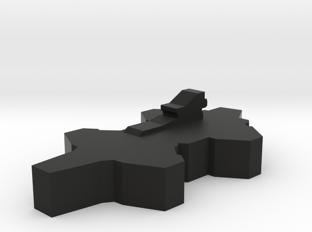 Game Piece, Agents Airborne Carrier in Black Natural Versatile Plastic
