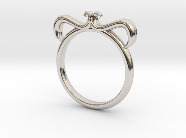 Petal Ring Size 11 in Platinum
