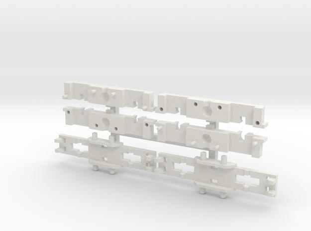 B4 DG Paar - große Ausführung, teilbar in White Natural Versatile Plastic