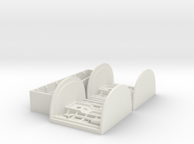 Landing Bay Set for Hasbro's Large Scale X-Wing  in White Natural Versatile Plastic