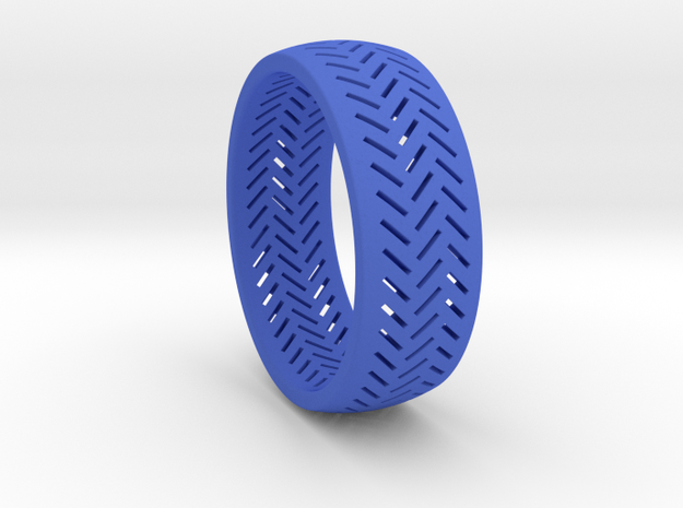 Herringbone Ring Size 6 in Blue Strong & Flexible Polished
