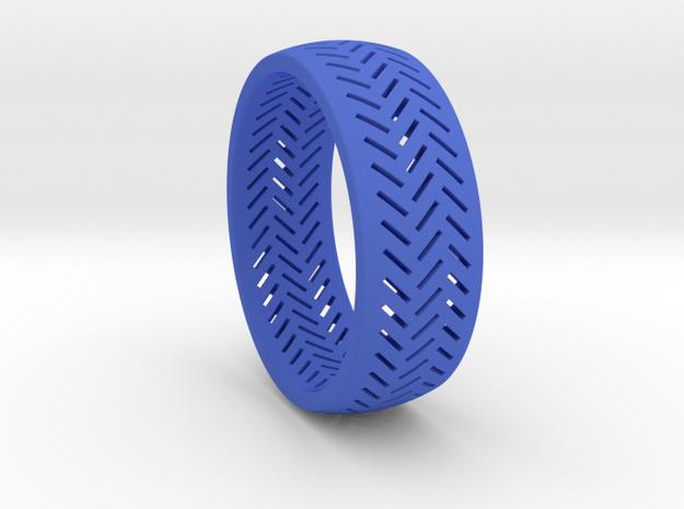 Herringbone Ring Size 6 in Blue Processed Versatile Plastic