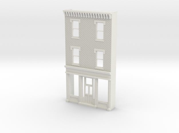 O scale PHILADELPHIA AVE STORE 3s Brick in White Natural Versatile Plastic