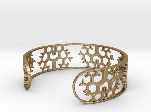 Geometric Tree Bracelet 7in (18cm) in Polished Gold Steel