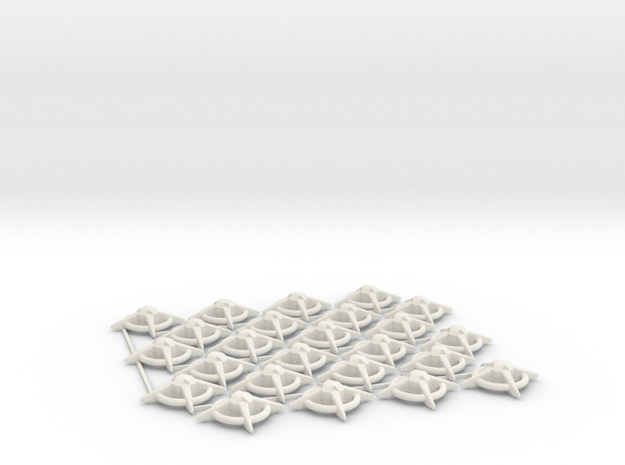 Terran Starbases - Pack of 24 (Connected) in White Natural Versatile Plastic
