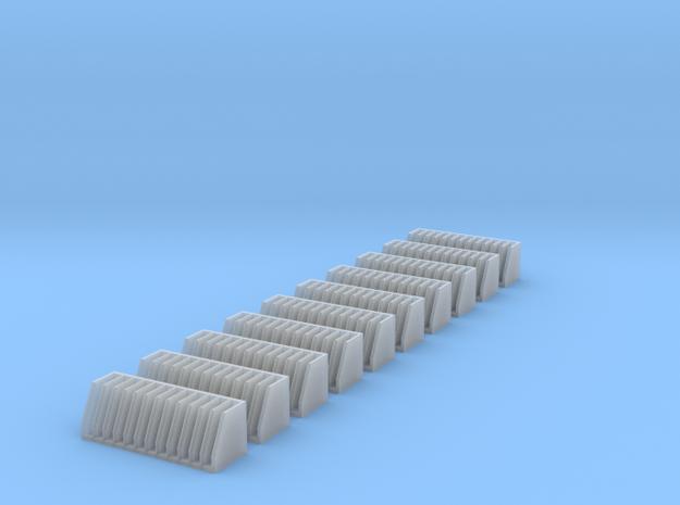 Schlauchfächer 10x in Smooth Fine Detail Plastic
