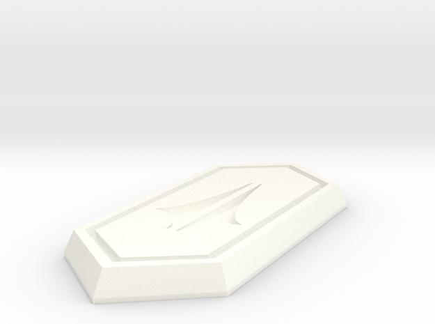Diamond RT MK I in White Processed Versatile Plastic