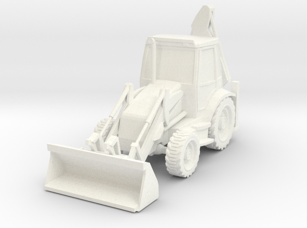 Backhoe Loader 01. HO Scale (1:87)