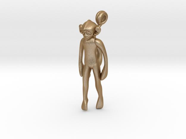 3D-Monkeys 055 in Matte Gold Steel