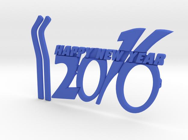 NEWYEAR 2016 FUNKY GLASSES in Blue Processed Versatile Plastic