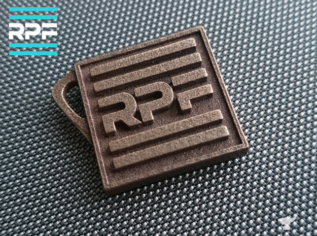 The RPF keyring - Craft your fandom in Polished Nickel Steel