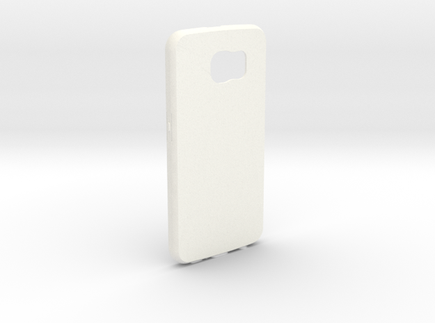 Customizable Samsung S6 case in White Processed Versatile Plastic