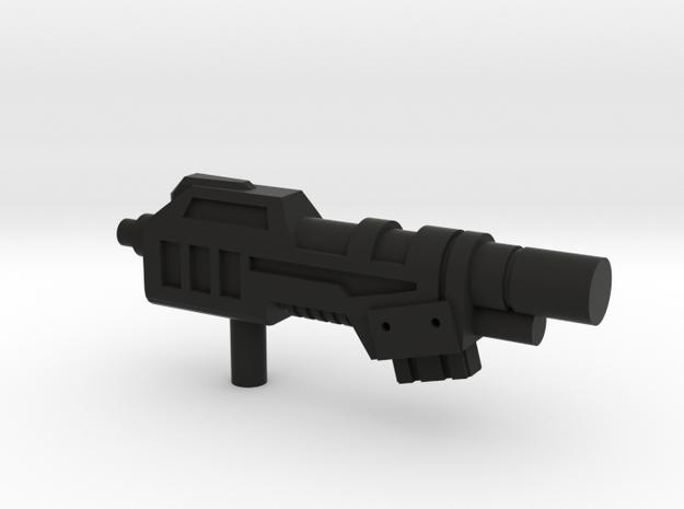 Devastator Gun1 in Black Natural Versatile Plastic
