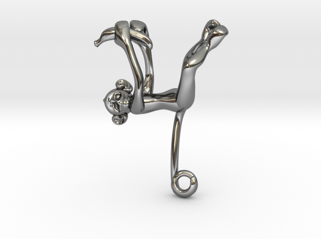 3D-Monkeys 110 in Fine Detail Polished Silver