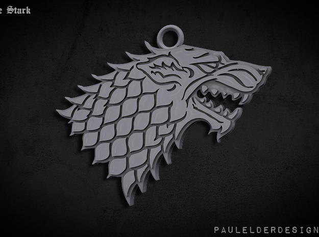 Stark Pendant: 2 sizes available 3d printed Render of the model only