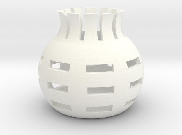 Miniature VAS in White Processed Versatile Plastic