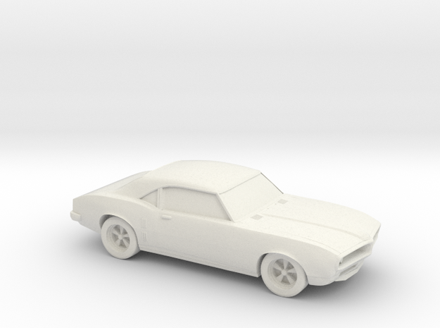 1/87 1967-69 Pontiac Firebird in White Natural Versatile Plastic