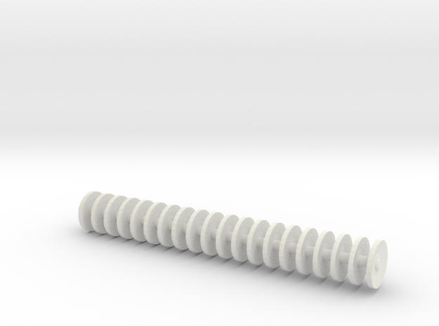 1/64 disc gang 2.2 inches in length.  in White Strong & Flexible