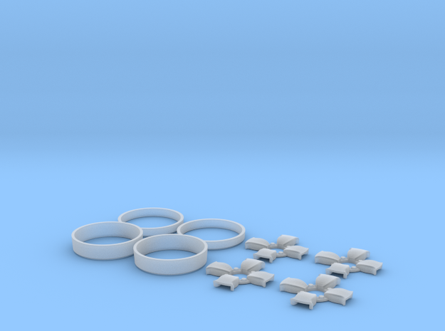 039003-01 Tamiya Willy's Wheeler Libra Wheel Caps in Smooth Fine Detail Plastic