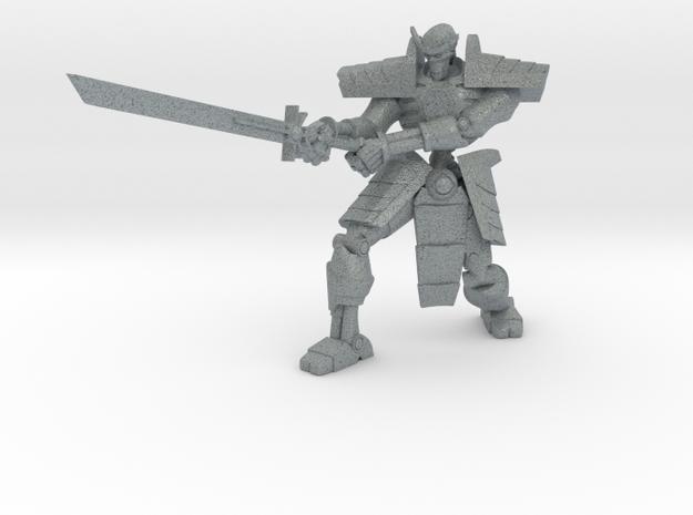 Robot Skeleton Samurai 05 in Polished Metallic Plastic