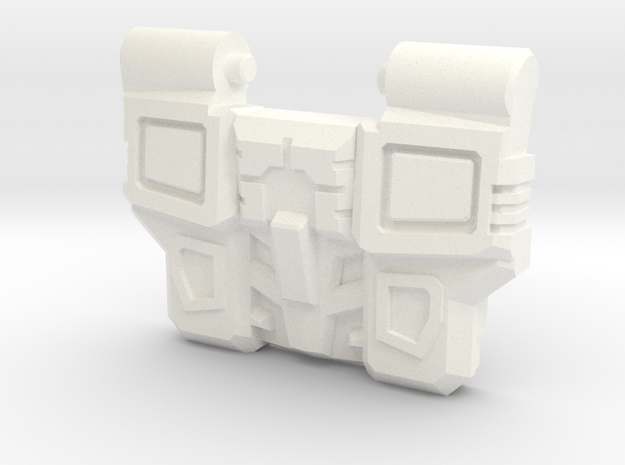 Reckless Driver's IDW Chest Plate in White Processed Versatile Plastic