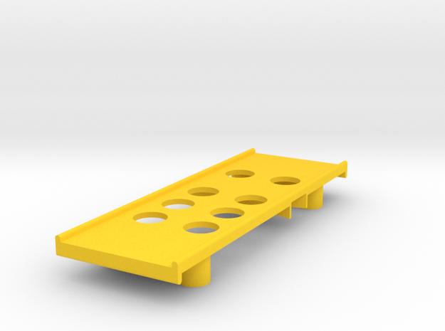 Yokomo 834b Battery Tray in Yellow Processed Versatile Plastic