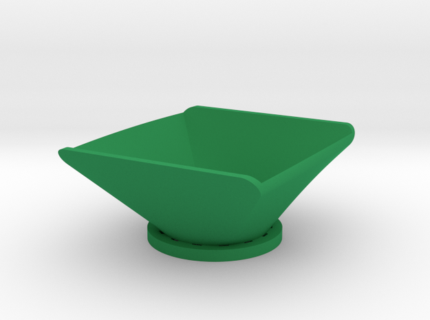 Simple Bowl in Green Processed Versatile Plastic
