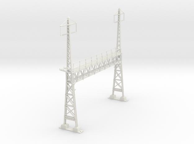 PRR CATENARY HO SCALE ANCHOR BRIDGE 2 PHASE in White Natural Versatile Plastic
