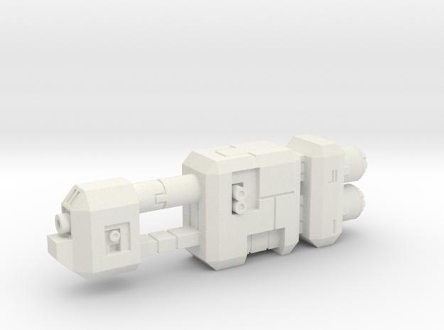 Tanker  in White Natural Versatile Plastic