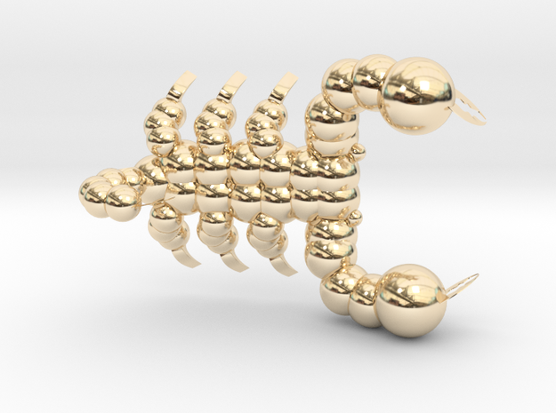 Scorpion in 14K Yellow Gold