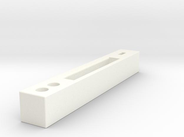 01 Mobile Stand in White Processed Versatile Plastic