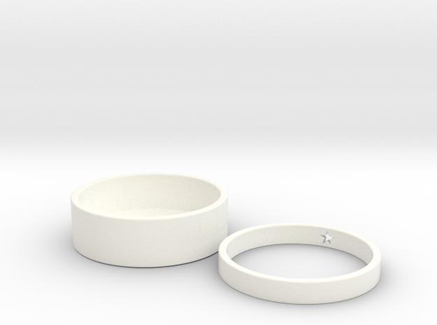 Paper Pen Case in White Processed Versatile Plastic