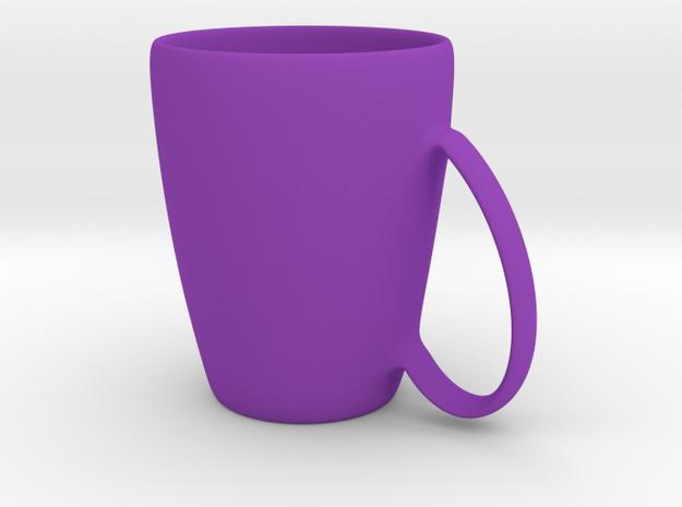 Coffee mug #6 XL - Handle UpSideDown in Purple Processed Versatile Plastic