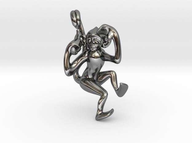 3D-Monkeys 220 in Fine Detail Polished Silver