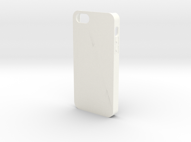 Customizable iPhone 5 case in White Strong & Flexible Polished