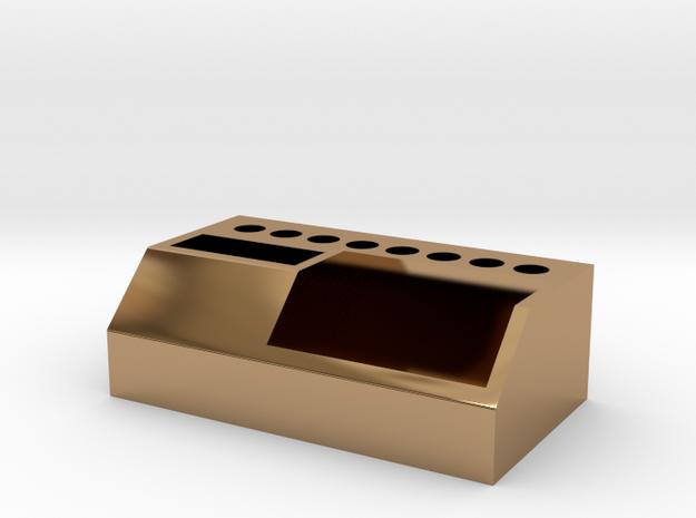 104102202 莊玉麟 筆筒 in Polished Brass