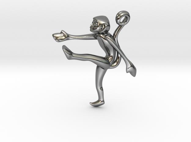 3D-Monkeys 251 in Fine Detail Polished Silver