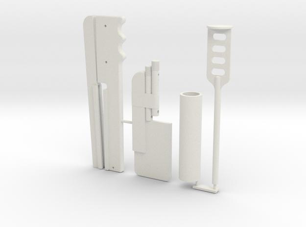 Boba Fett ESB Shin Tools 1/4th Scale in White Natural Versatile Plastic
