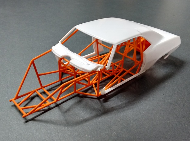 Camaro Pro Stock Chassis 1/24 Model Car  in Orange Processed Versatile Plastic