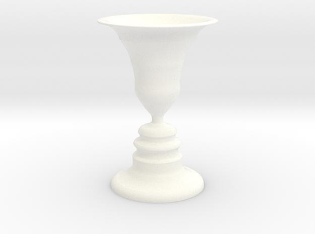 Face vase tea light holder in White Processed Versatile Plastic