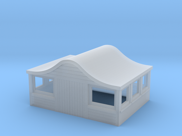 Bombay Roof for American Models S scale Caboose in Frosted Ultra Detail
