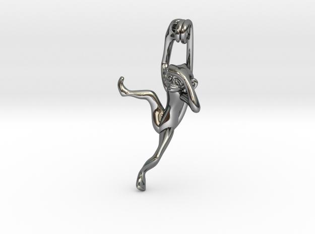 3D-Monkeys 349 in Fine Detail Polished Silver