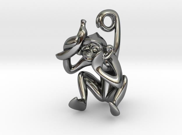 3D-Monkeys 350 in Fine Detail Polished Silver