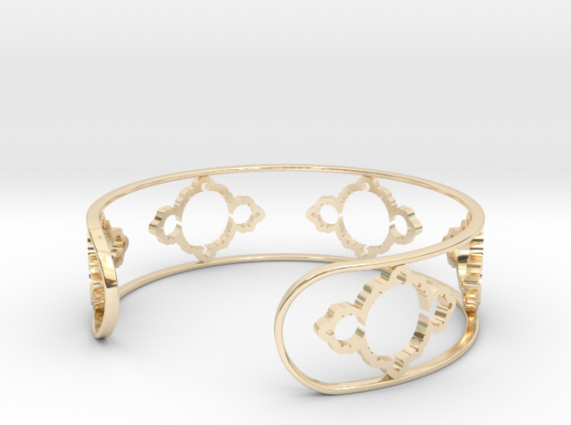Mandelbrot Light Bracelet 7in (18cm) in 14k Gold Plated Brass