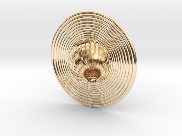 Saturn pendant in 14K Yellow Gold